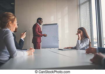 Business people working in modern conference room