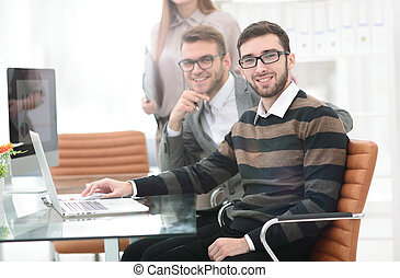 Business people working in the office