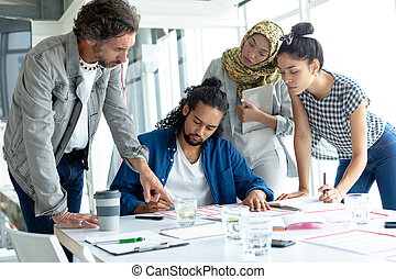 Business people working together at conference room in a modern office
