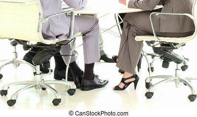 Business people working together in