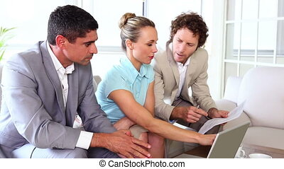 Business people working together o