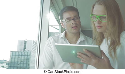 Business People Working with Tablet PC