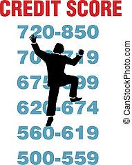 Business person climb better credit score - Business person...