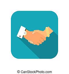 Business person handshake icon vector illustration