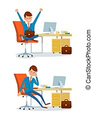 Business Person, People at Office Working by Desk