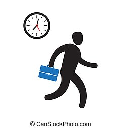 Business person rushing in a hurry to get on time