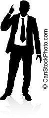 Business Person Silhouette - Very high quality business...
