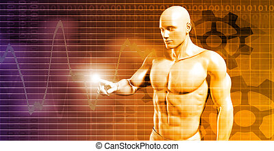 Business Person Touching Active Chart