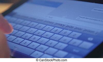 digital tablet virtual keyboard