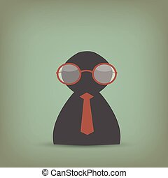 Business Person With Glasses Illustration