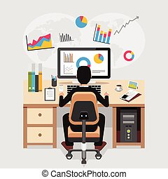 Business person working and analyzing financial statistics. Business analysis concept.
