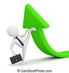 business!, -, persona, flessibilità, piccolo, 3d