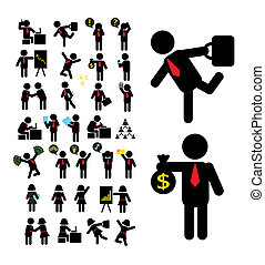 Business Pictogram Icons - Business, action, activity,...