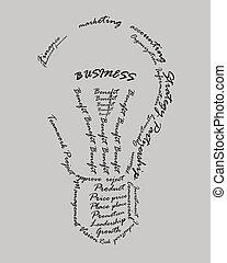 Business vocabulary sort themselves into the shape of the...