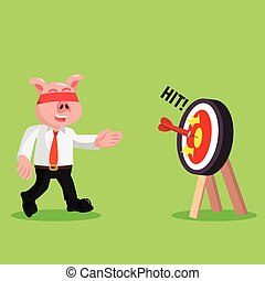 business pig luck hit the target