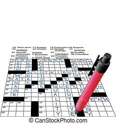 Business Plan Answers Crossword Puzzle Pen