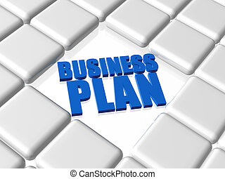 business plan - blue concept