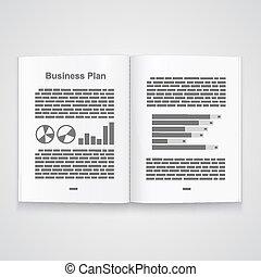 Business plan book. Vector