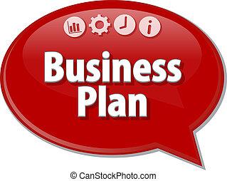 Business Plan Business term speech bubble illustration -...