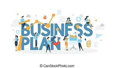 Business plan concept.