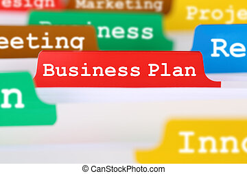 Business plan concept for success when launching a new company or start up