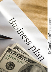 Business plan conception with money
