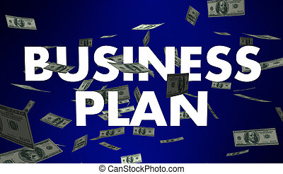 Business Plan Goal Strategy Money Words 3d Illustration