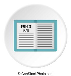 Business plan icon circle