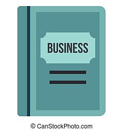 Business plan icon, flat style