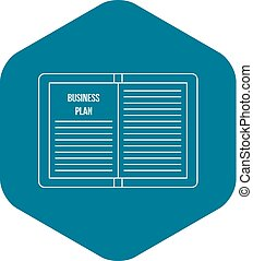 Business plan icon, outline style