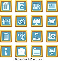 Business plan icons azure