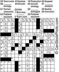 Business Plan Idea Solutions Crossword Puzzle