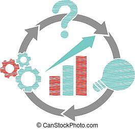 Business Plan Logo Design Template Vector