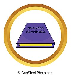 Business plan notebook vector icon