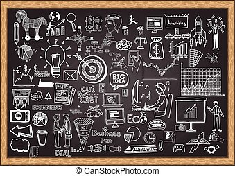 business plan on chalkboard
