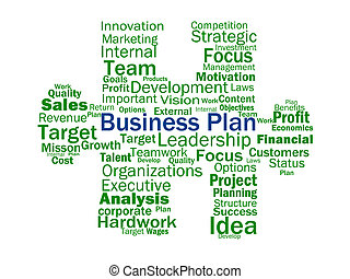 Business Plan Shows Aims Strategy Plans Or Planning