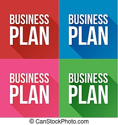 Business plan sign vector