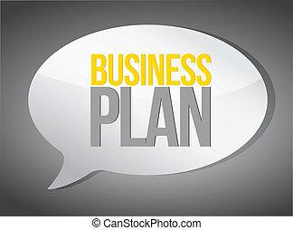 Business plan speech bubble
