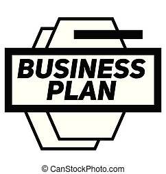 BUSINESS PLAN stamp on white