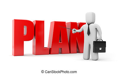 Business plan - Business concept. Isolated on white