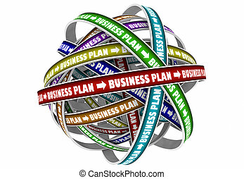 Business Plan Strategy Goal Mission 3d Illustration