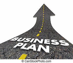 Business Plan Strategy Road Arrow 3d Illustration