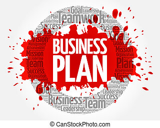 Business Plan word cloud collage