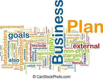 Business plan word cloud - Word cloud concept illustration...