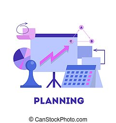 Business planning and strategy concept. Idea of time