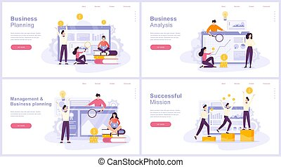 Business planning concept set. Idea of analysis