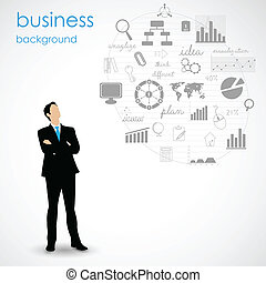 Business Planning - easy to edit vector illustration of...