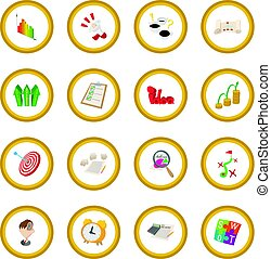 Business planning icon circle