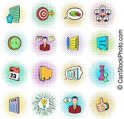 Business planning icons set