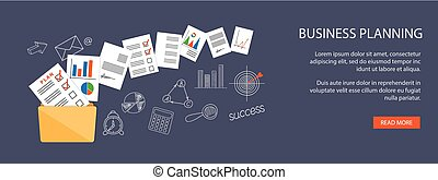 business planning - Flat design modern vector illustration...
